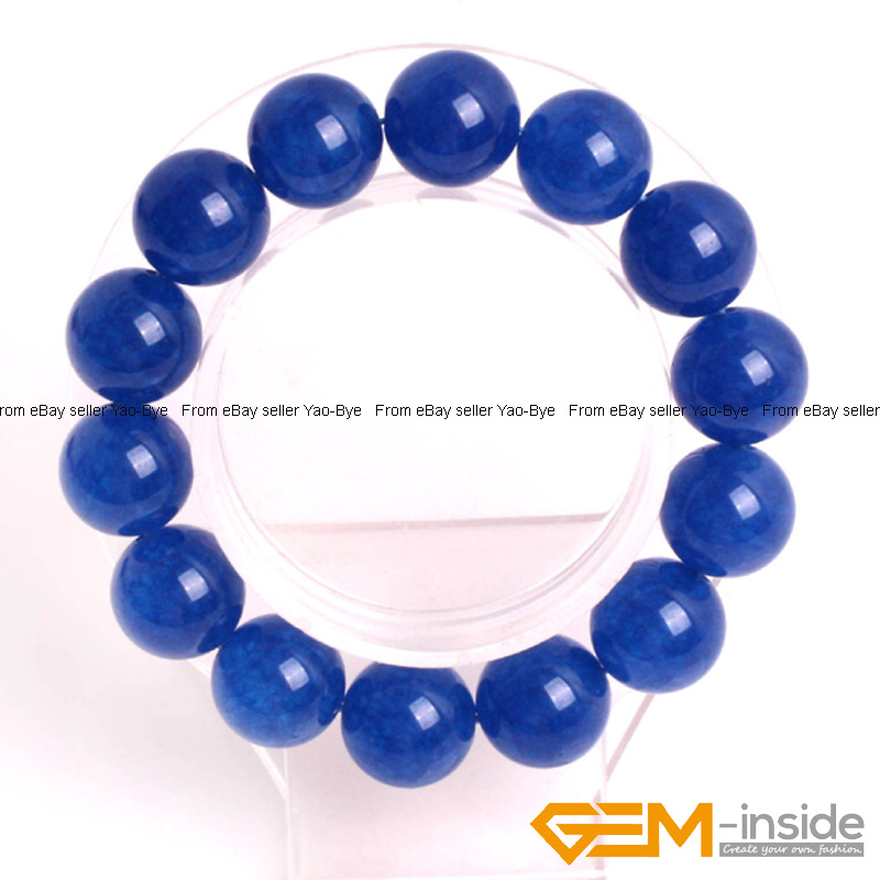 Wholesale-Lot-Handmade-Fashion-Jewelry-Assorted-Colors-Beaded-Jade-Bracelet-7-5-034 thumbnail 64