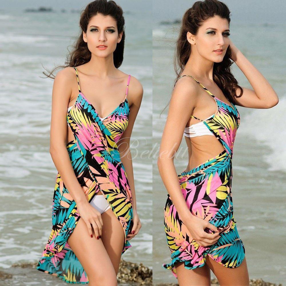 Women Summer Bathing Suit Bikini Cover Up Beach Dress Sarong Wrap Pareo Swimwear