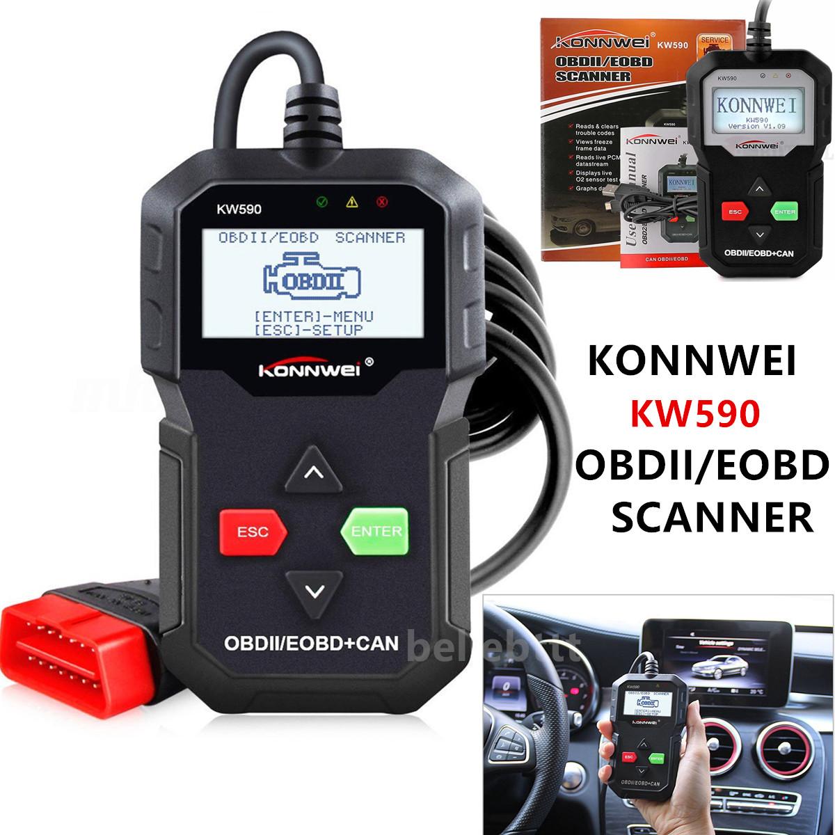KW590 OBDII EOBD Auto Car Engine Scanner Code Reader Diagnostic Scan Tool