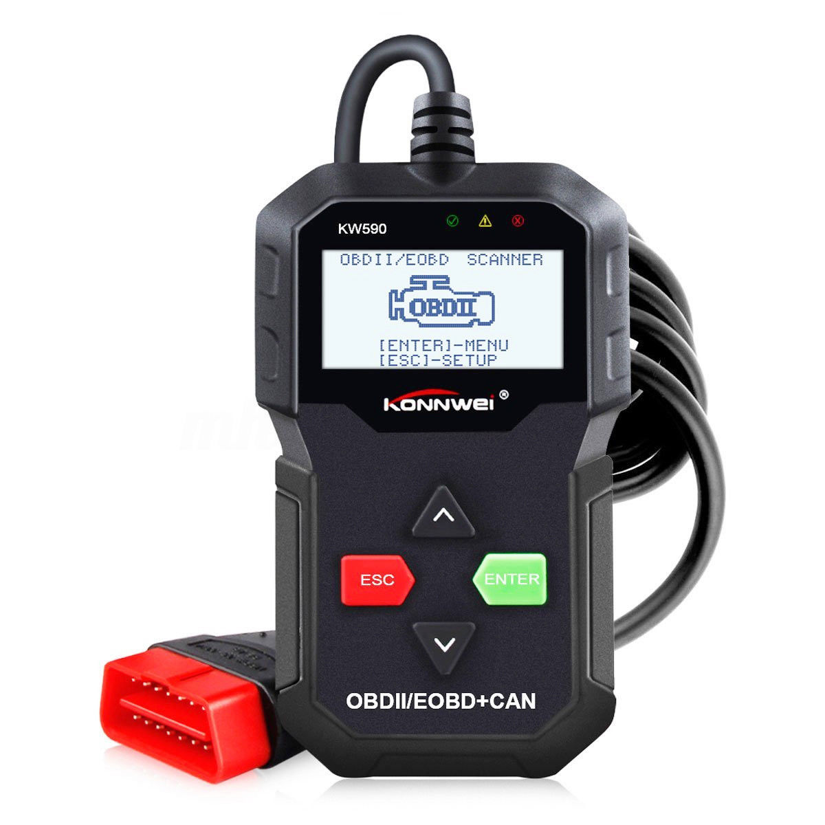KW590 OBDII OBD2 EOBD Auto Car Engine Scanner Code Reader