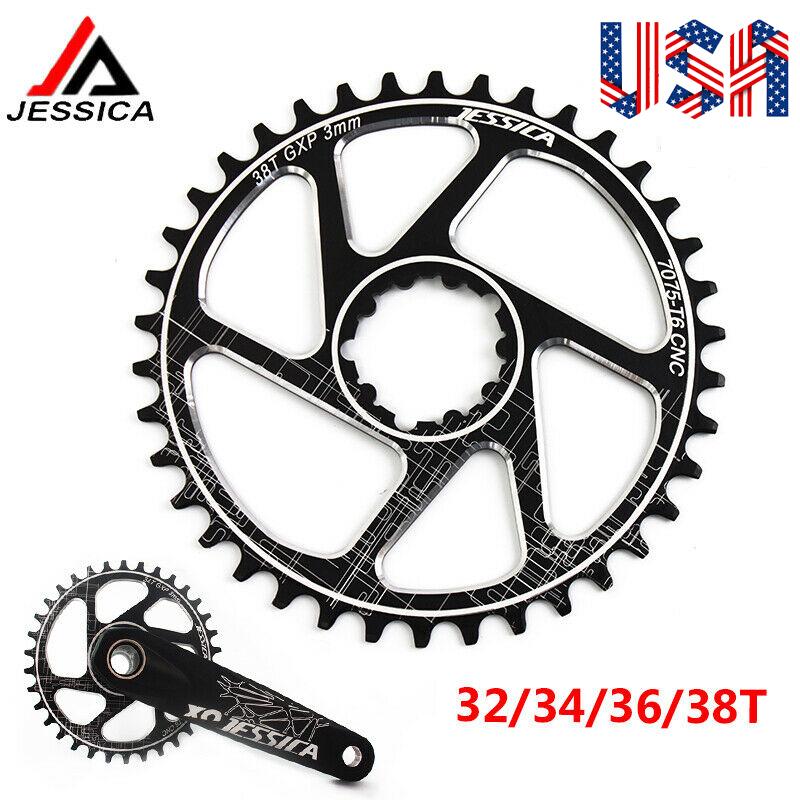 JESSICA MTB Bike GXP Crank Offset 3mm 32-38T Chainring Narrow Wide Chainwheel US