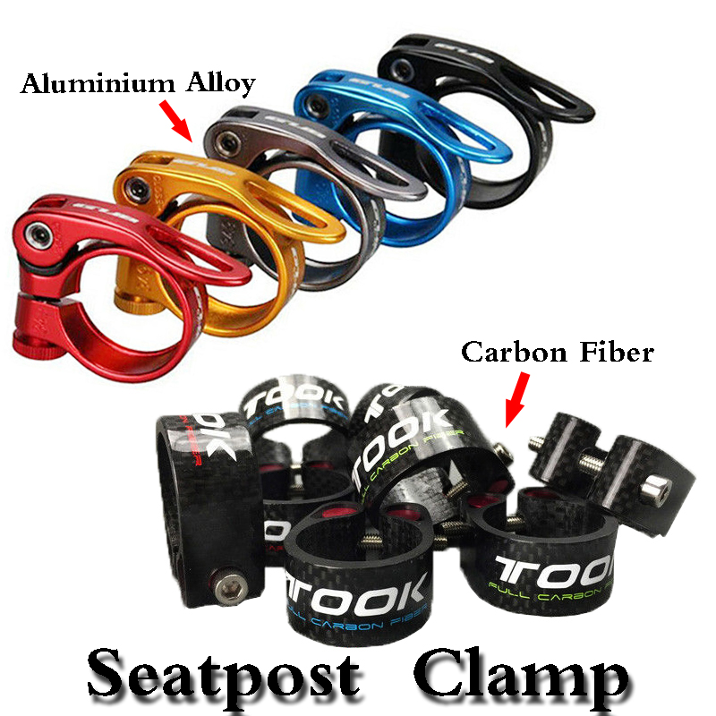 Mountain//Road Bike Seat Post Clamp 34.9mm for 31.6mm Seatpost Red