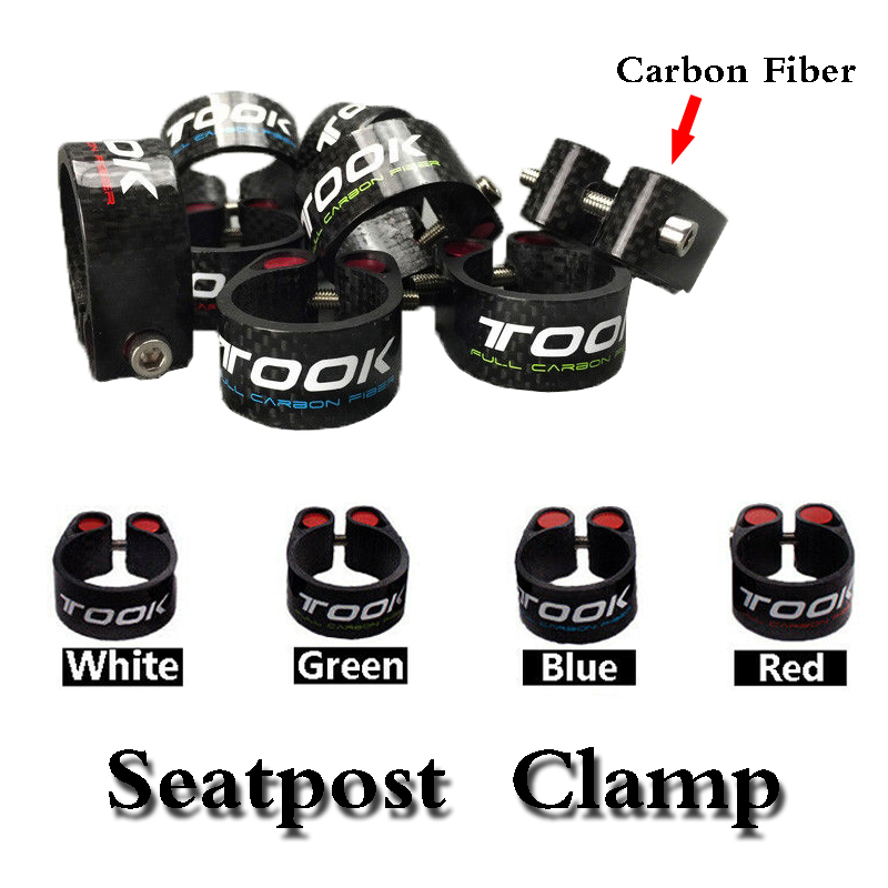 Bicycle Carbon Seatpost Clamp MTB Road Clamp for 31.6 30.8 30.9 27.2mm Seatpost