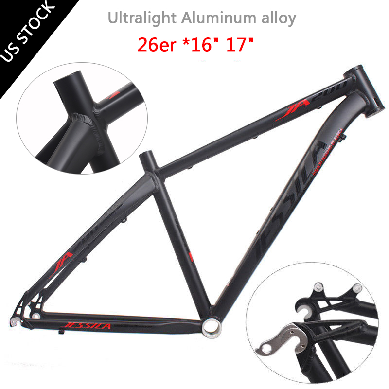 16//17 Aluminum Mountain Bike Frame BB68 /&Headset MTB Bicycle Frameset 26er Wheel