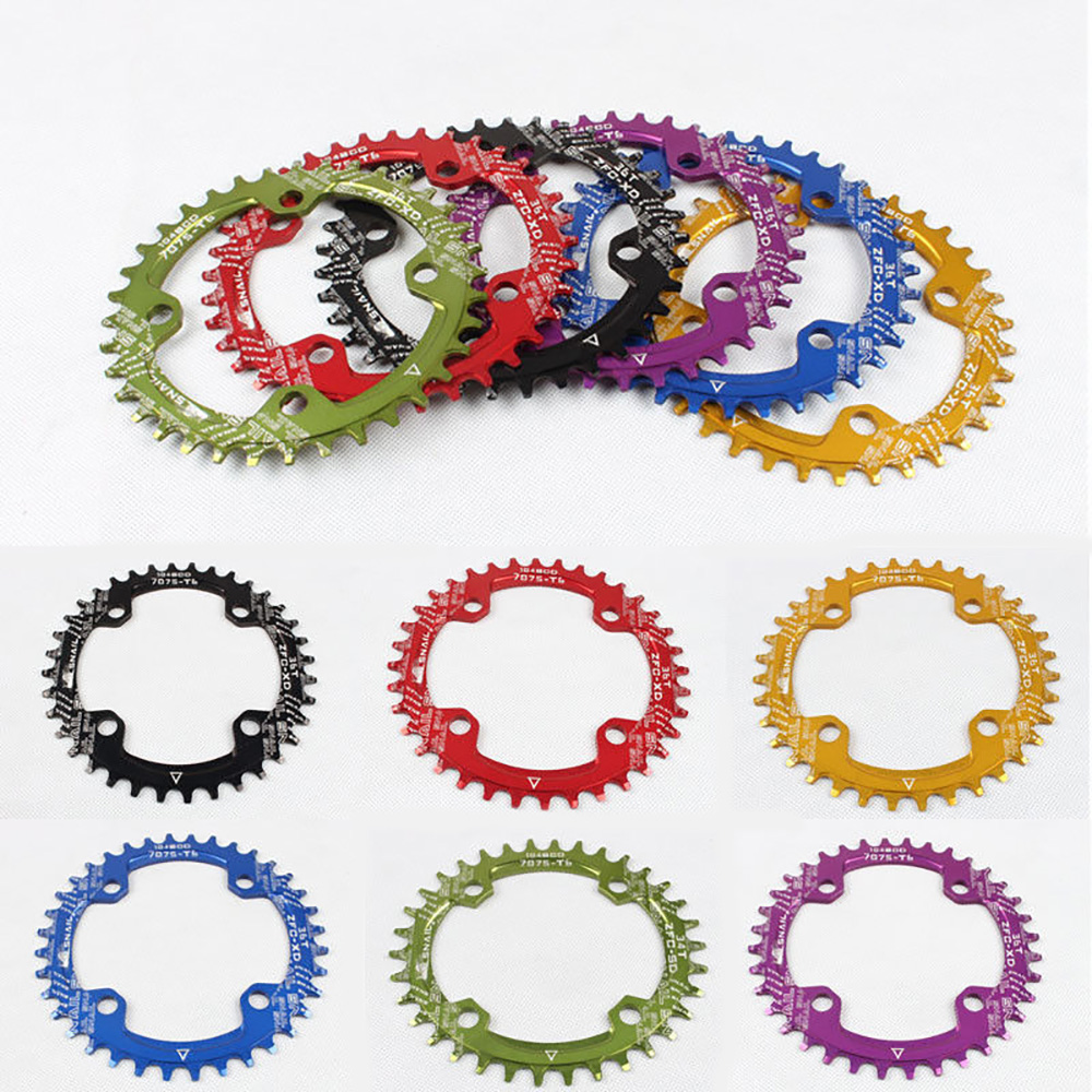 Single Tooth Narrow Wide Bike MTB Bicycle Chainring 104BCD 32T//34T//36T//38T//40T