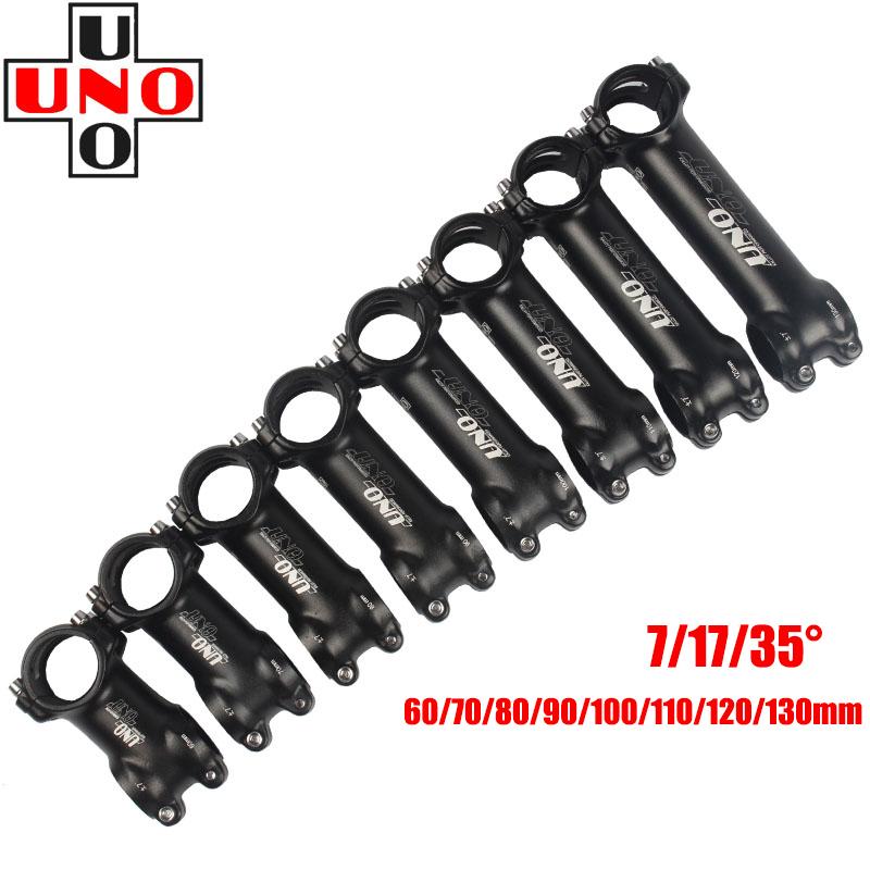 UNO Aluminum stems ±7° MTB Road XC Bike Stem 31.8*60//70//80//90//100//110//120//130mm