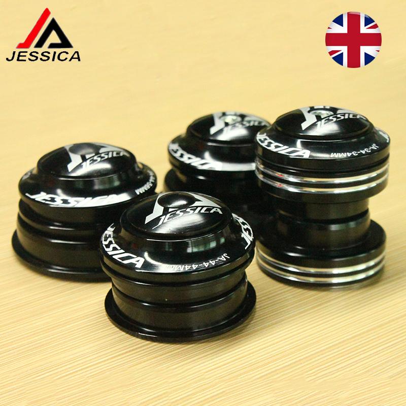"JESSICA 34//44//44-55//44-56mm Headset MTB//Road Bike 1-1//8/"" Threadless Black//Red"