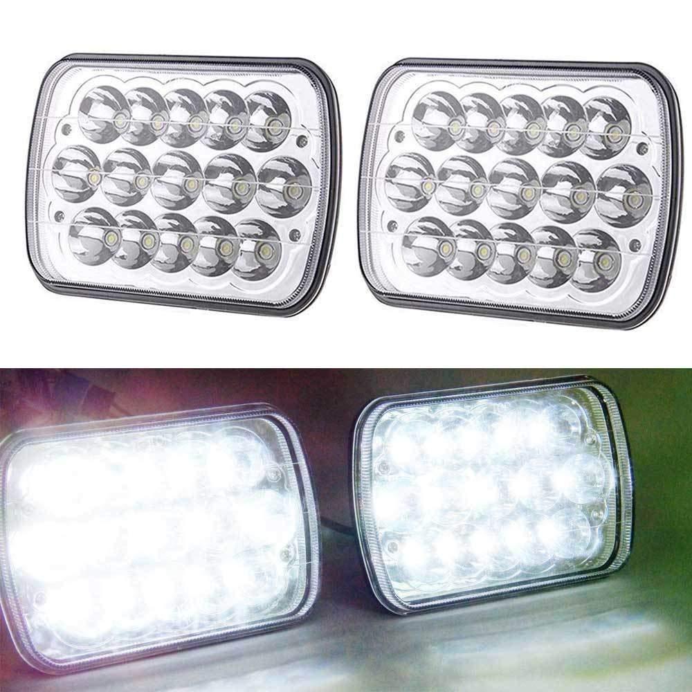 Pair LED White Headlight Replace 6054 H6054 Sealed Beam for Freightliner FL70