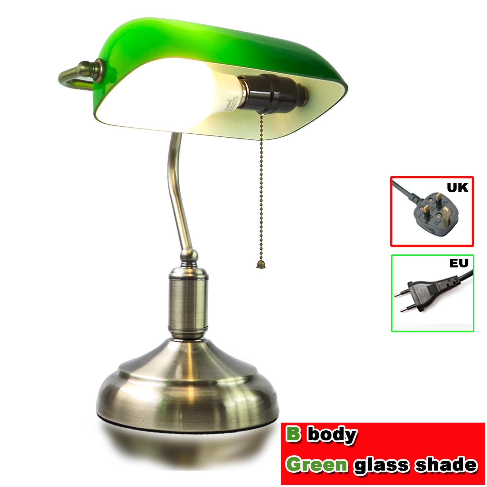 "9x5/"" Lampshade Bankers Lamp Desk Lamp Replacement Glass Shade Cover Fixture UK!"