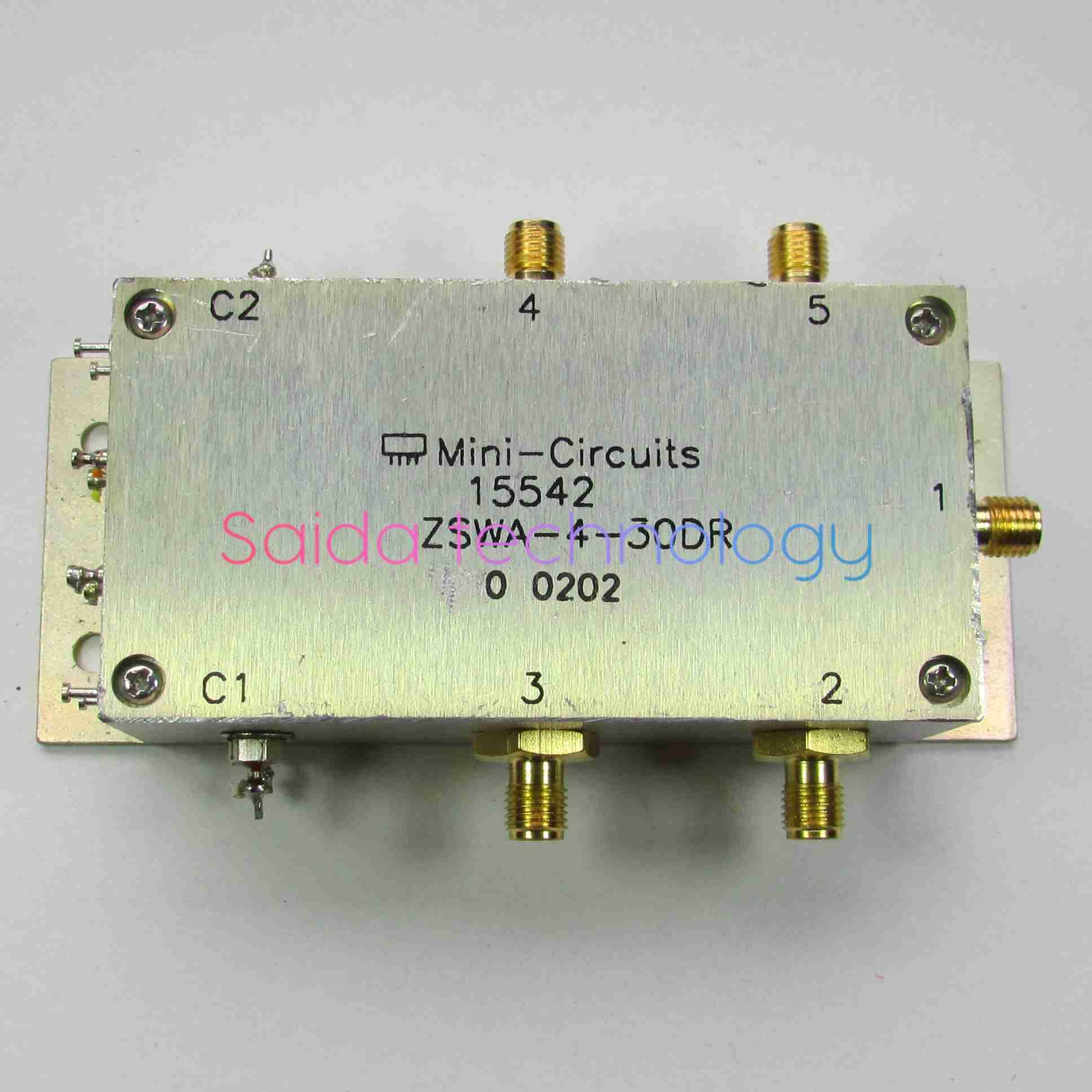 Mini-Circuits ZSWA-4-30DR DC-3GHz SMA Single-Pole Four-Throw RF ...