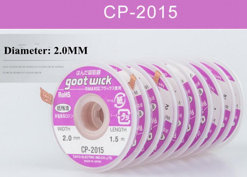1pc New cp1515 1.5mm 1.5m Goot Wick BGA Desoldering Braid Solder Remover Wire C9