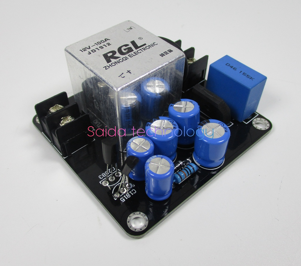 High Power 100a 4000w Supply Delay Soft Start Board For Class A Amp