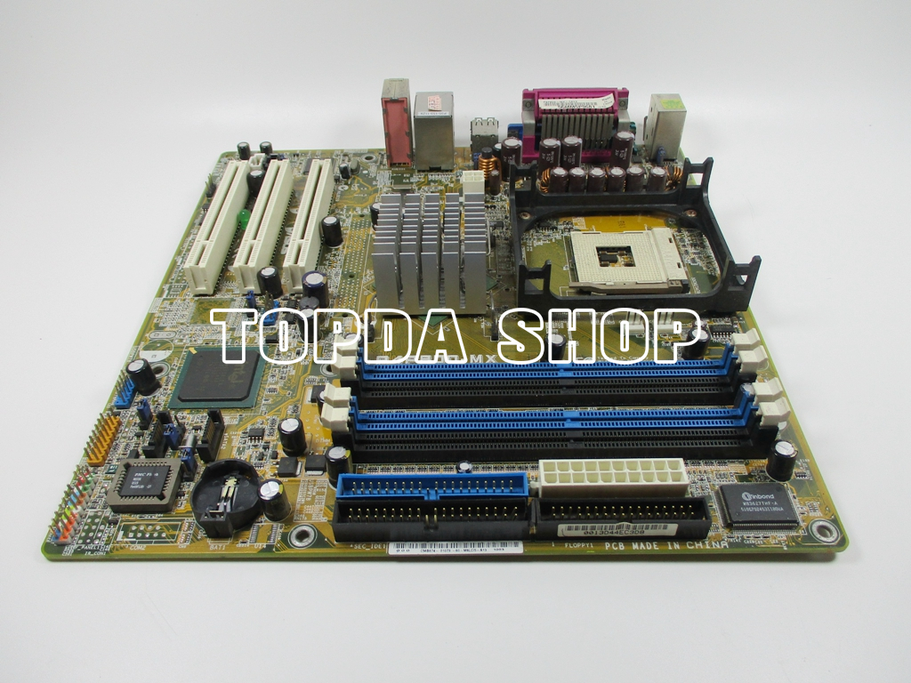 1PC ASUS P4P800-MX 478-pin 865 fully integrated 4 memory slot equipment board#ZH