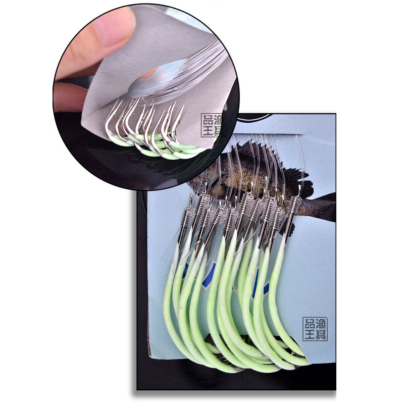 Luminous Fishing Hooks 12-28# Barbed Carbon Steel Hook Tackle Fly Fishing S