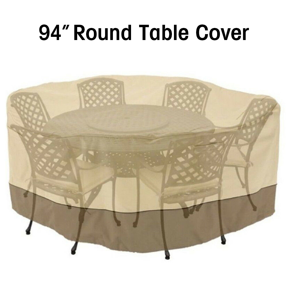 Fine Details About 94 Round Patio Table 6 Chairs Set Waterproof Outdoor Large Furniture Cover Bralicious Painted Fabric Chair Ideas Braliciousco