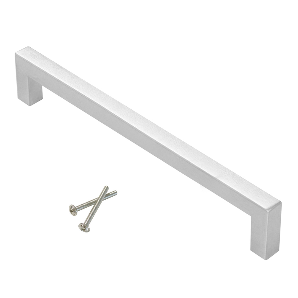 5 10 25 Cabinet Pull Square Drawer Handles Kitchen: 25X Brushed Nickel Square Bar Pulls Door Cabinet Kitchen