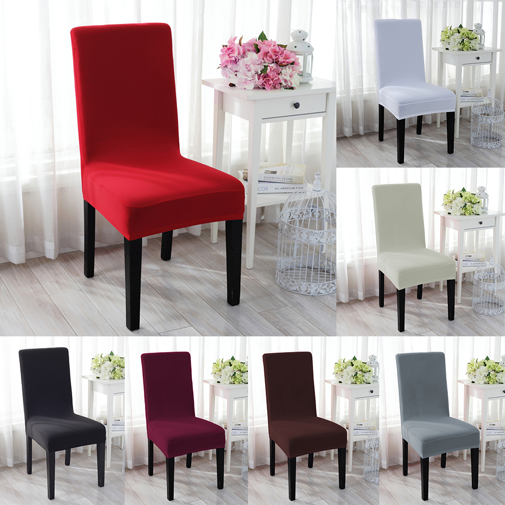 Details About 1 4 6pc Spandex Stretch Chair Cover Dining Room Seat Wedding Banquet Party