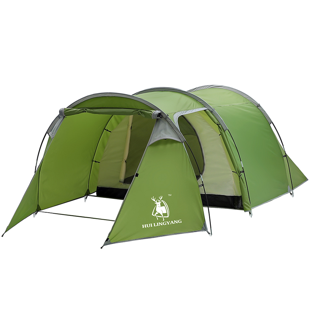 Large Outdoor Camping Hiking Tent 5-6 Person 2-Room Cabin ...