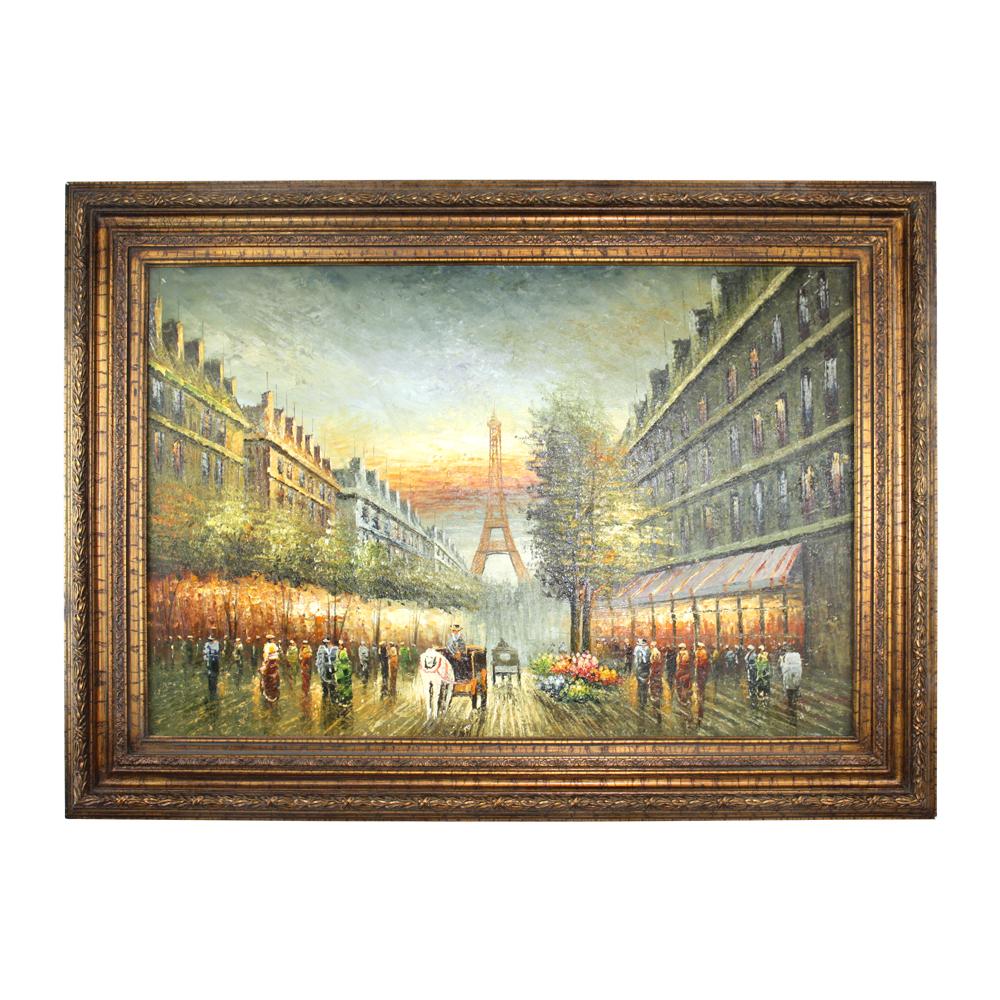 Detalles Acerca De Pintura Al Oleo Vintage Foto Colgante Marco De Foto De Oro Antiguo De Madera Decoracion De Pared Mostrar Titulo Original