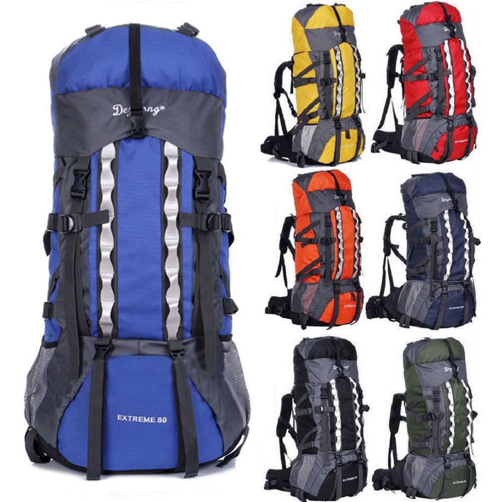 bbcb2fd8ab78 80L+20 Waterproof Camping Hiking Backpack Internal Frame Travel Bag Outdoor  Larg