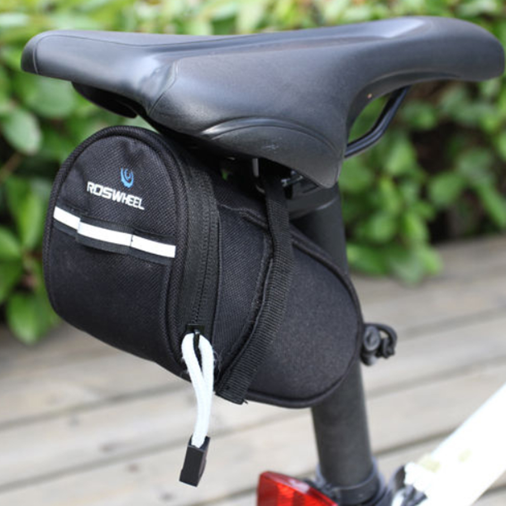 Roswheel Outdoor Cycling Bike Saddle Bag Seat Storage Bicycle Tail Pouch Black