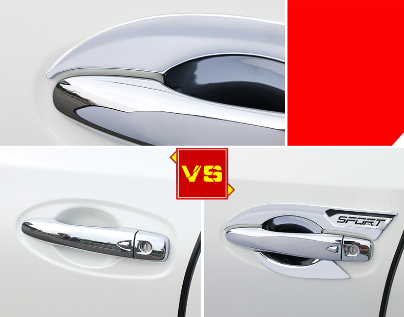 8*For Nissan Rogue X-Trail 14-2019 ABS Car Exterior Door Handle Bowl Cover Trim