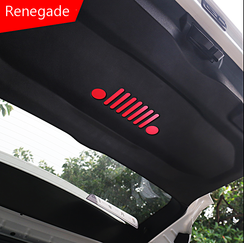 Rear Trunk Handle Sticker Silver Color For Jeep Renegade 2016-17 Car Accessories