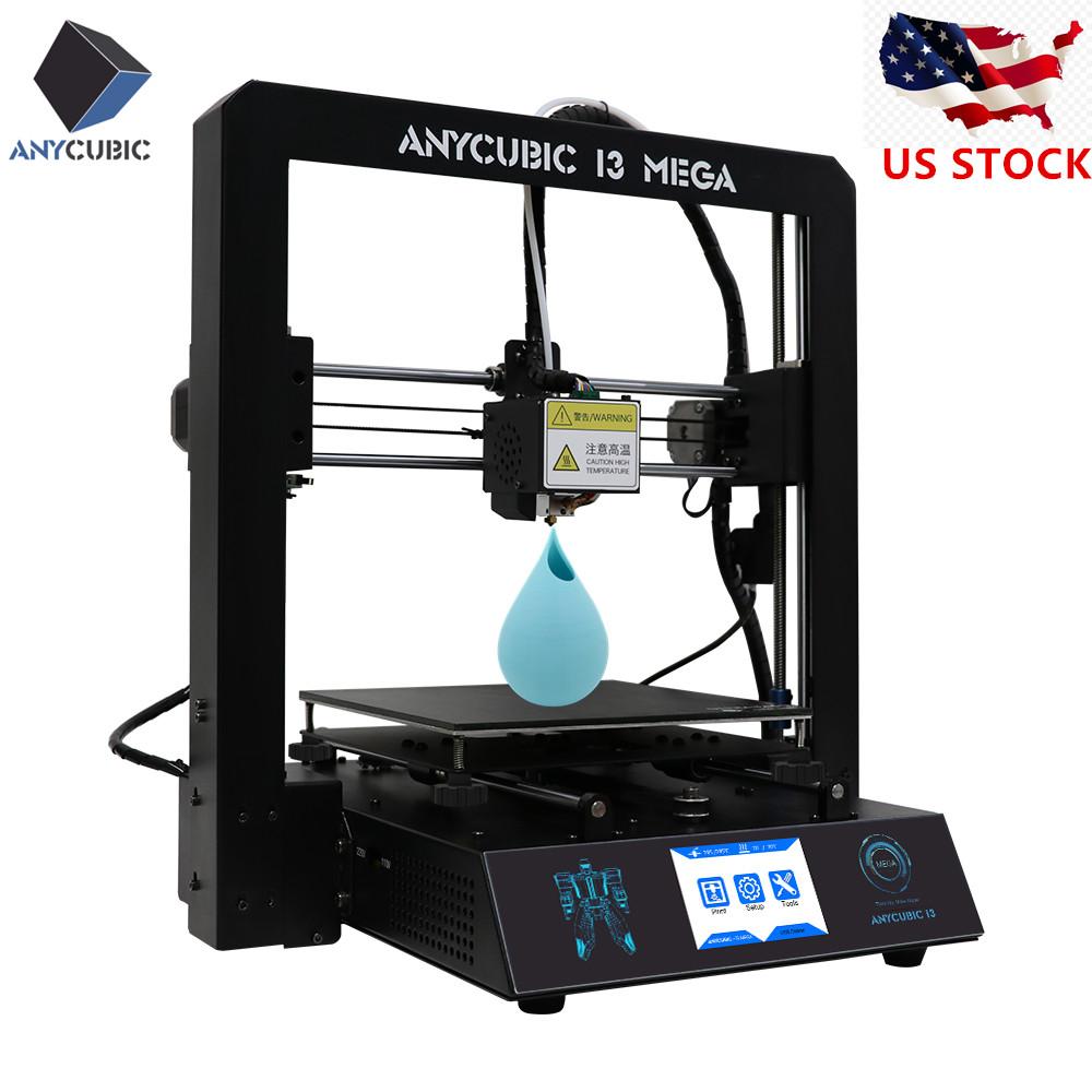 Details about US ANYCUBIC i3 Mega 3D Printer Desktop DIY Kit Full Metal  Frame Platform Heatbed