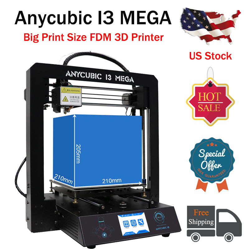 Details about US Stock ANYCUBIC I3 Mega Full Metal FDM 3D Printer Ultrabase  Heated 3 5