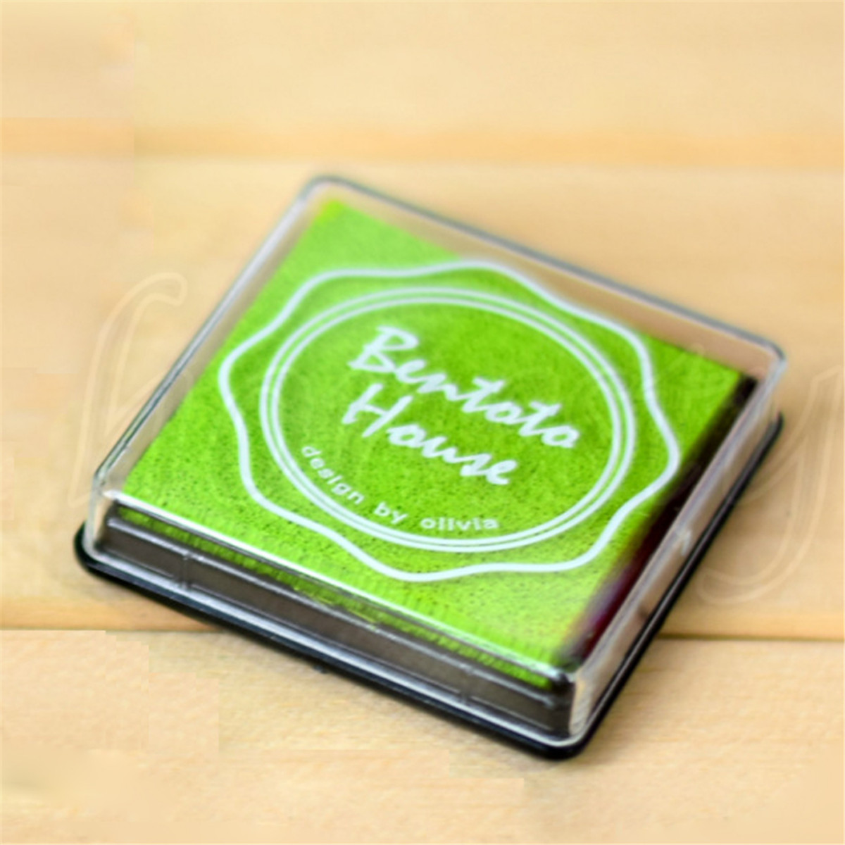 Rainbow-Rubber-Teacher-Stamp-Craft-Ink-Pad-Wood-Fabric-Children-039-s-Finger-Paint
