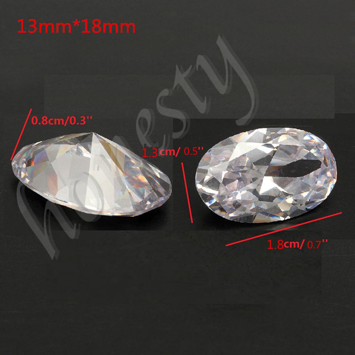 13X18MM White Sapphire Beautiful Oval Shape Lustrous Loose Gemstone Gem