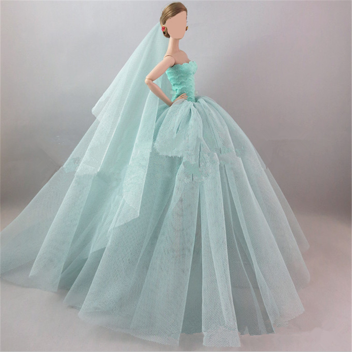 Handmade Fashion Princess Party Dress/Wedding Clothes/Gown+veil for ...