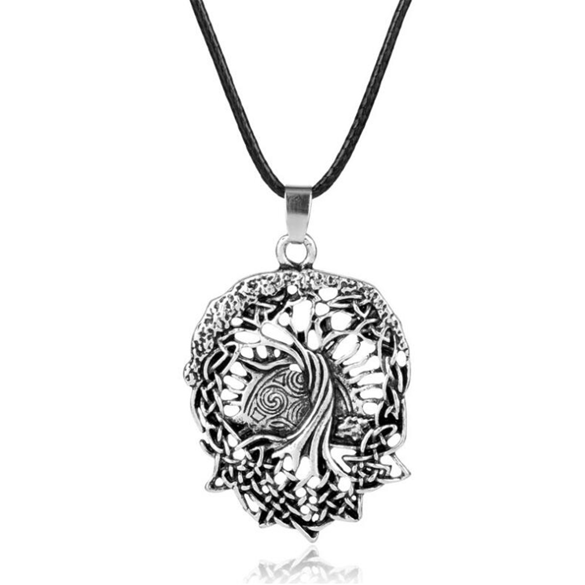 Men/'s Vintage Norse Tree of Life Pendant Knot Amulet Necklace Jewelry