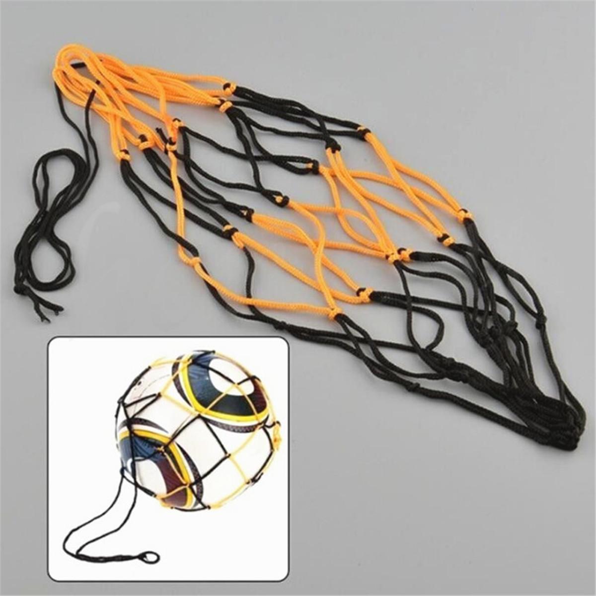 Basketball Volleyball Football Net Mesh Bag Sports Ball Carrier Holds 15 Balls