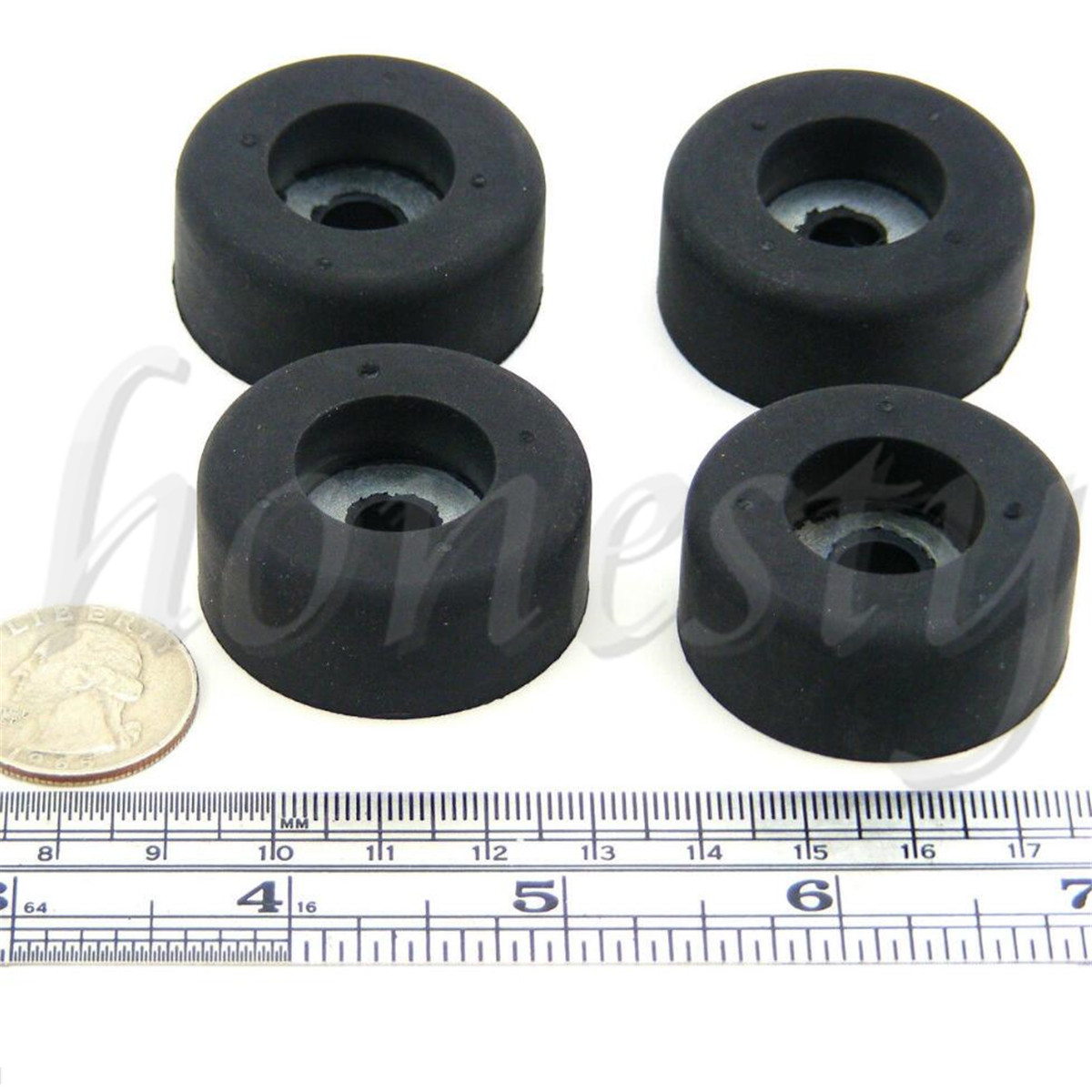 4Pcs Rubber Bumpers Embedded Washer Feet Pad Instrument Speaker HoldZT