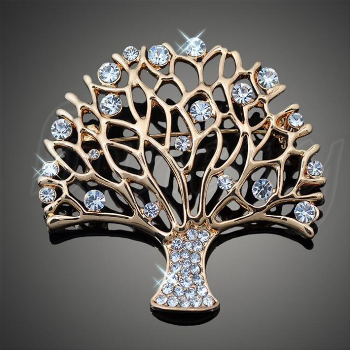 Details about Fashion Jewelry Tree of Life Brooch Pin Party Wear Crystal  Tropical Brooch Pin