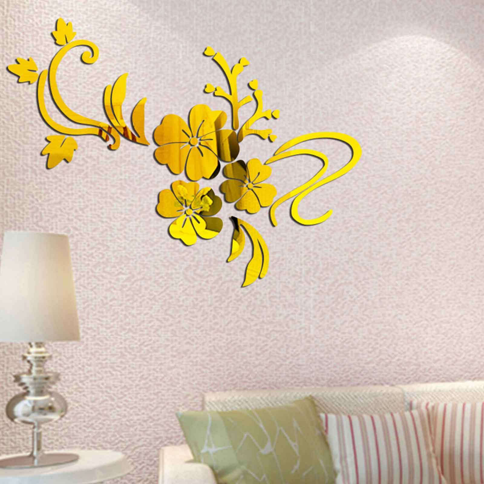 Vine Flower Acrylic Wall Art Stickers, Wall Decals, Wall Graphics ...