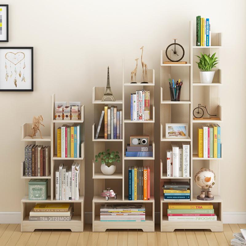 Bookshelf Corner Sheving Tree Shape Bookcase Rack Divider Storage