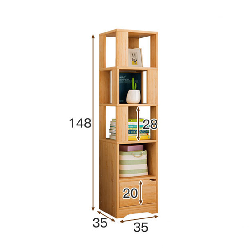 Simple 3 4 Tiers Bookcase Warm White Bookshelf With Unit Shelves Home Furniture