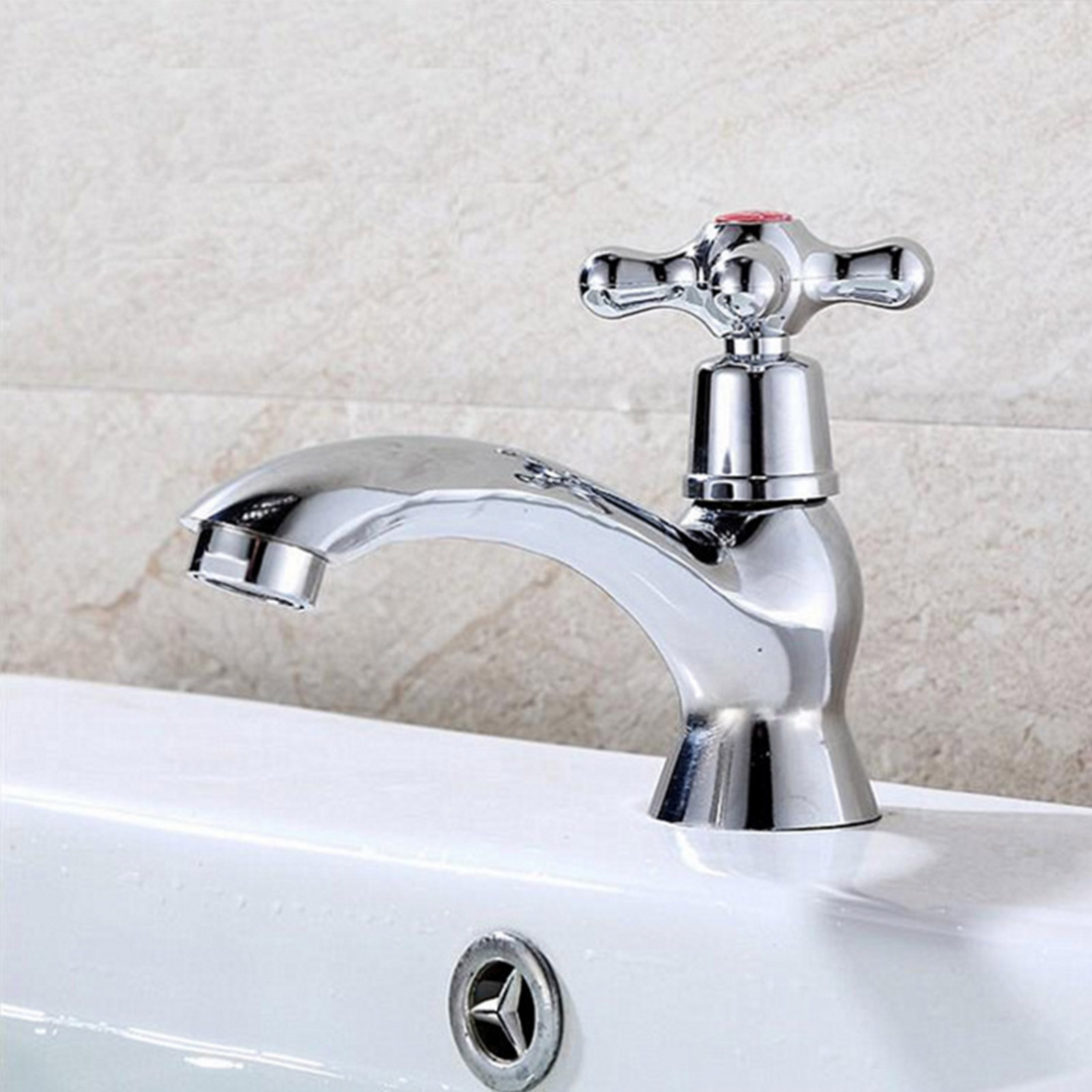 Chrome 2 Taps Twin Hot And Cold Pair Tap Traditional Bath Bathroom Basin Sink Ebay