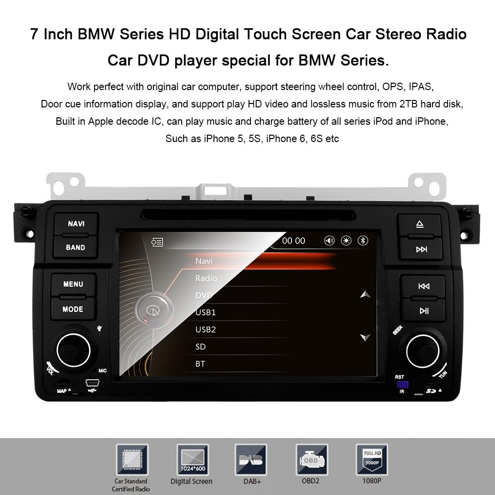 "BMW E46 318 320 325 M3 7""Car Radio DVD Player Stereo GPS"