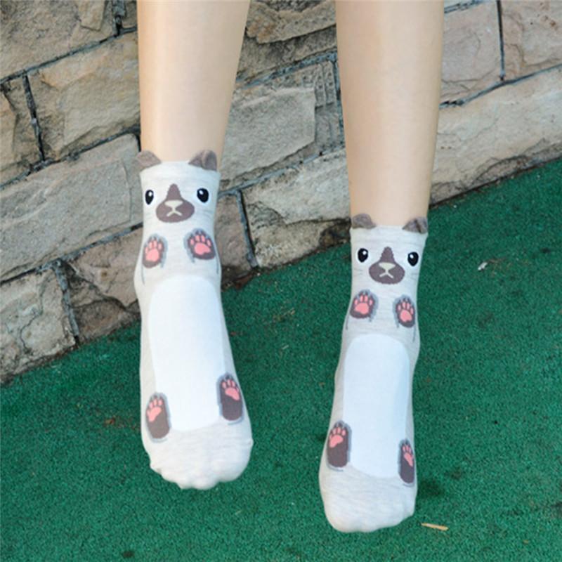 Fashion-Women-Girls-Cute-3D-Animal-Cartoon-Cat-Printed-Casual-Ankle-high-Socks miniature 39
