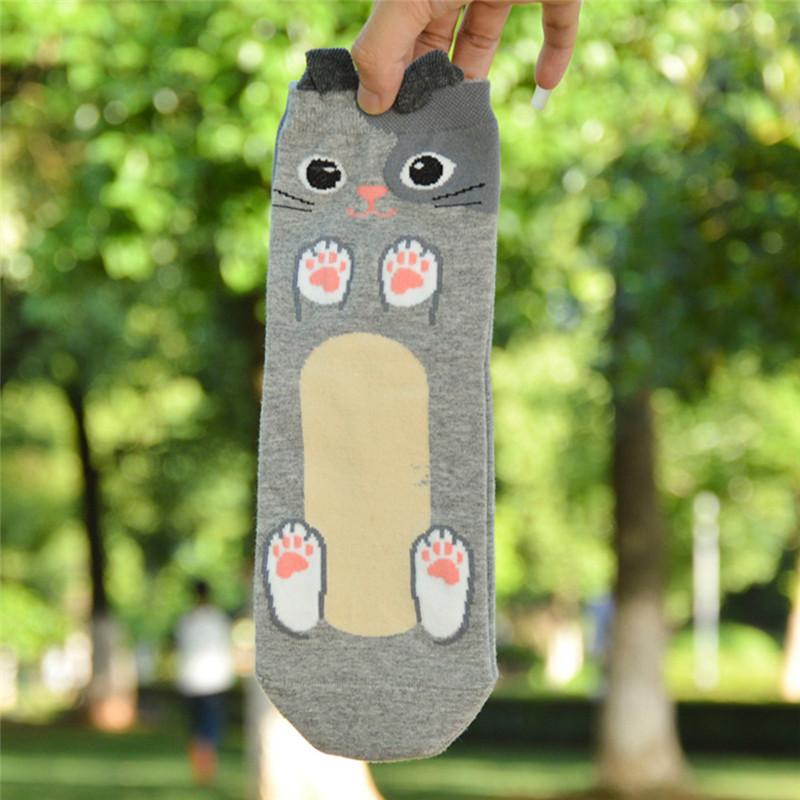 Fashion-Women-Girls-Cute-3D-Animal-Cartoon-Cat-Printed-Casual-Ankle-high-Socks miniature 30