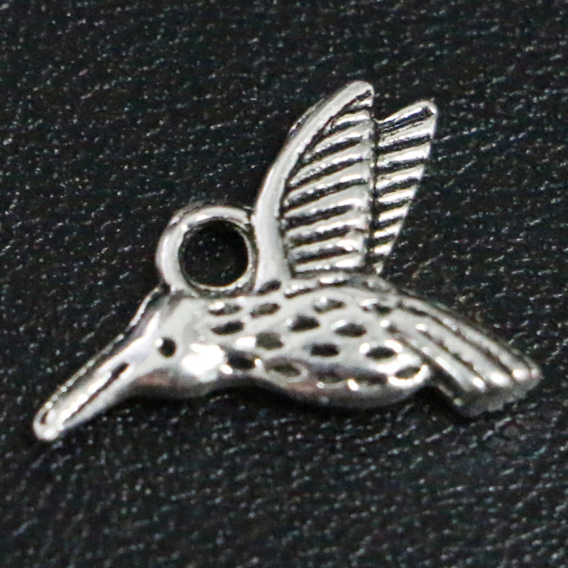 74c06a22b9 Details about 20/200 Pcs DIY Tibetan silver Birds Hummingbird Jewelry  Charms Pendants 17*12mm
