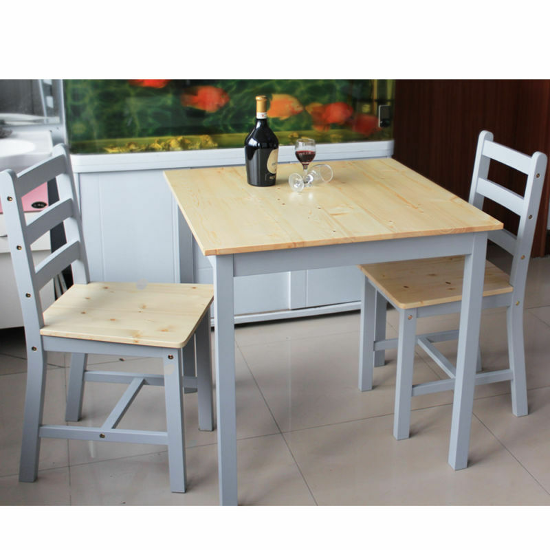 Details About Wooden Dining Table And 2 Chairs Small Set Room Kitchen Furniture
