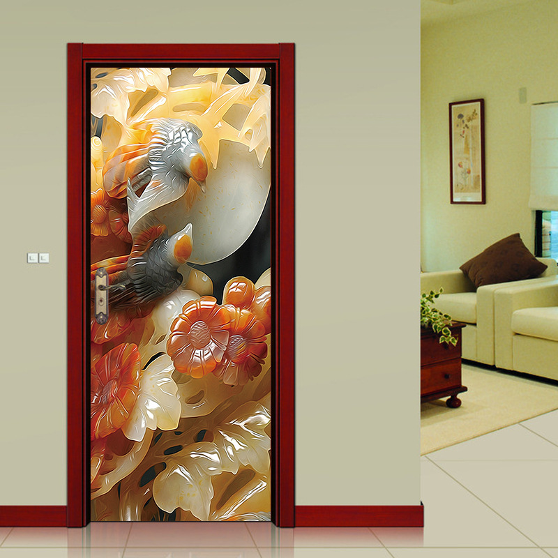 Details About 3d Bamboo Trail Classic Door Stickers Wall Decals Home Decoration Pvc Diy