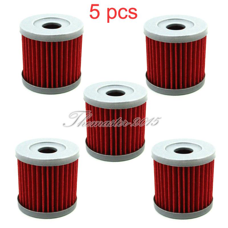 5x Oil Filter For DRZ400 400E 400X 400SM KLX400SR KFX400 LTZ400 LTR450 Dirt Bike