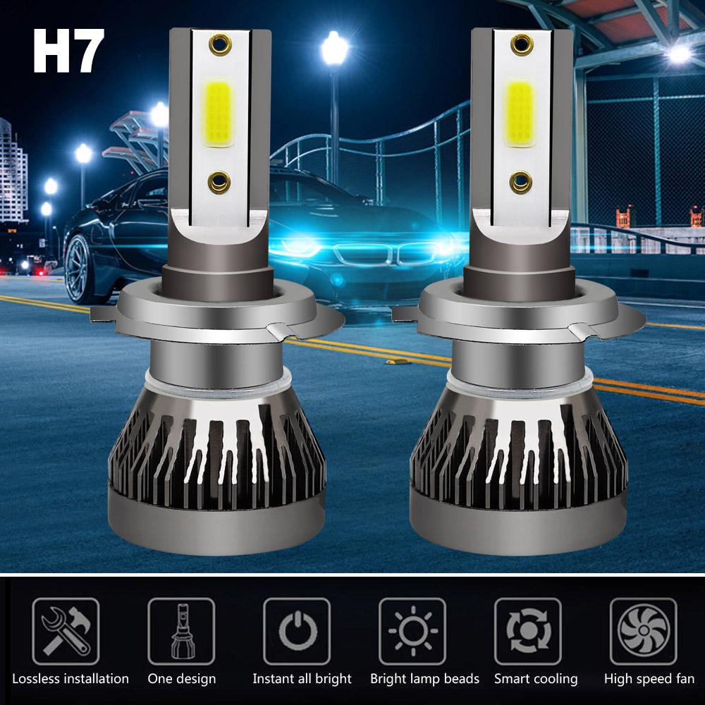 2x Mini 9006 HB4 LED Headlight Bulb Kit Low Beam 6000K 200W 30000LM White Lights