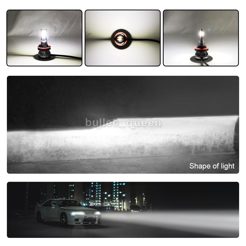 Mini H7 H11 Led Headlight Bulbs Hi Lo Combo 6000k For