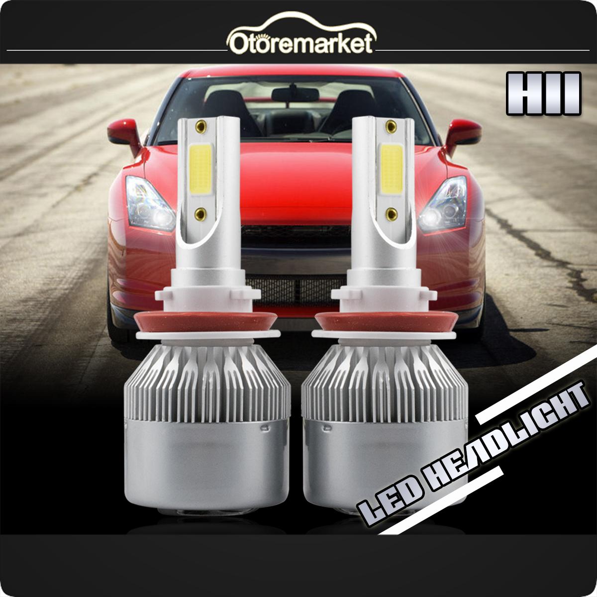 2Pcs CREE H11 LED Headlight Fog light 138000LM H8 H9 Beam COB White 6000K New